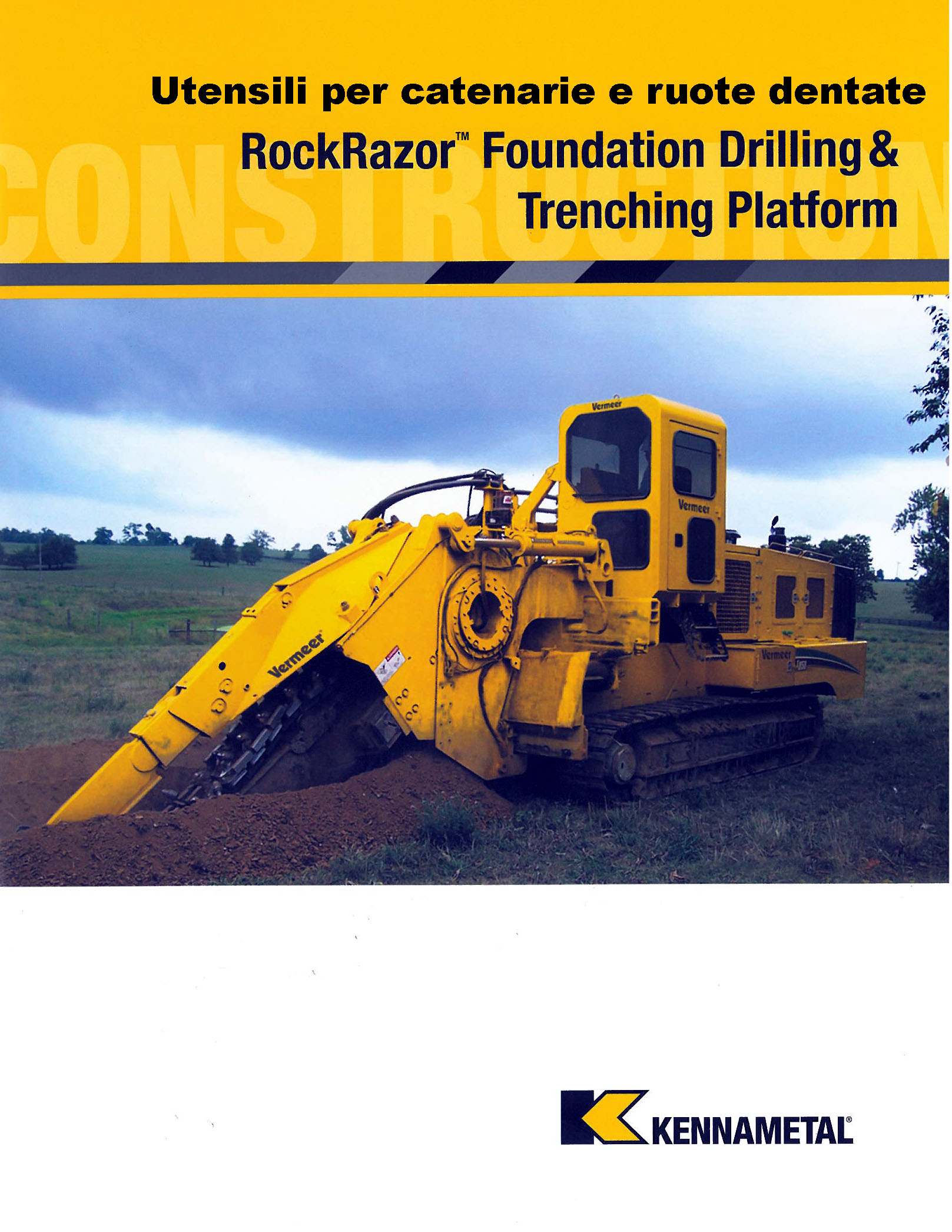 - TOOLS, BLOCKS AND ACCESSORIES FOR ROCK SAW TRENCHERS AND BUCKET WHEEL TRENCHERS